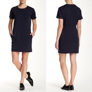 Theory Zissia Classic Tee Dress Light Navy
